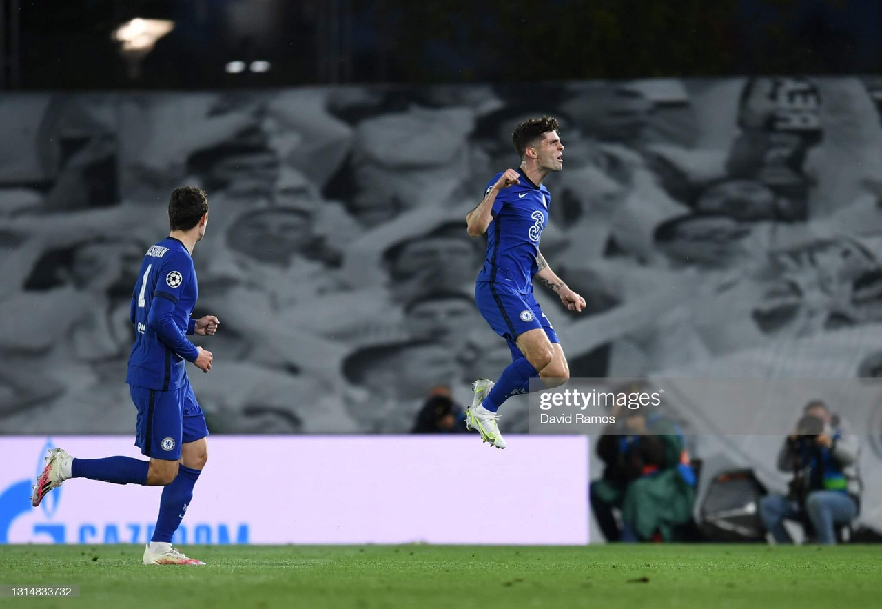 Real Madrid 1-1 Chelsea: Pulisic scores as first leg ends in a draw