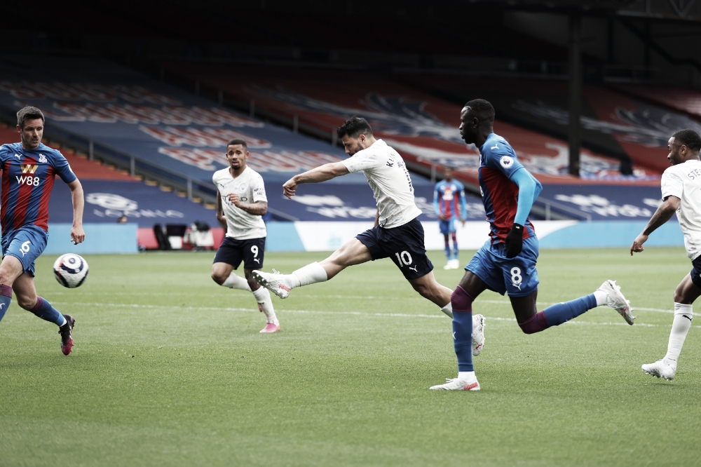 Manchester City vence Crystal Palace fora de casa e encaminha título da Premier League