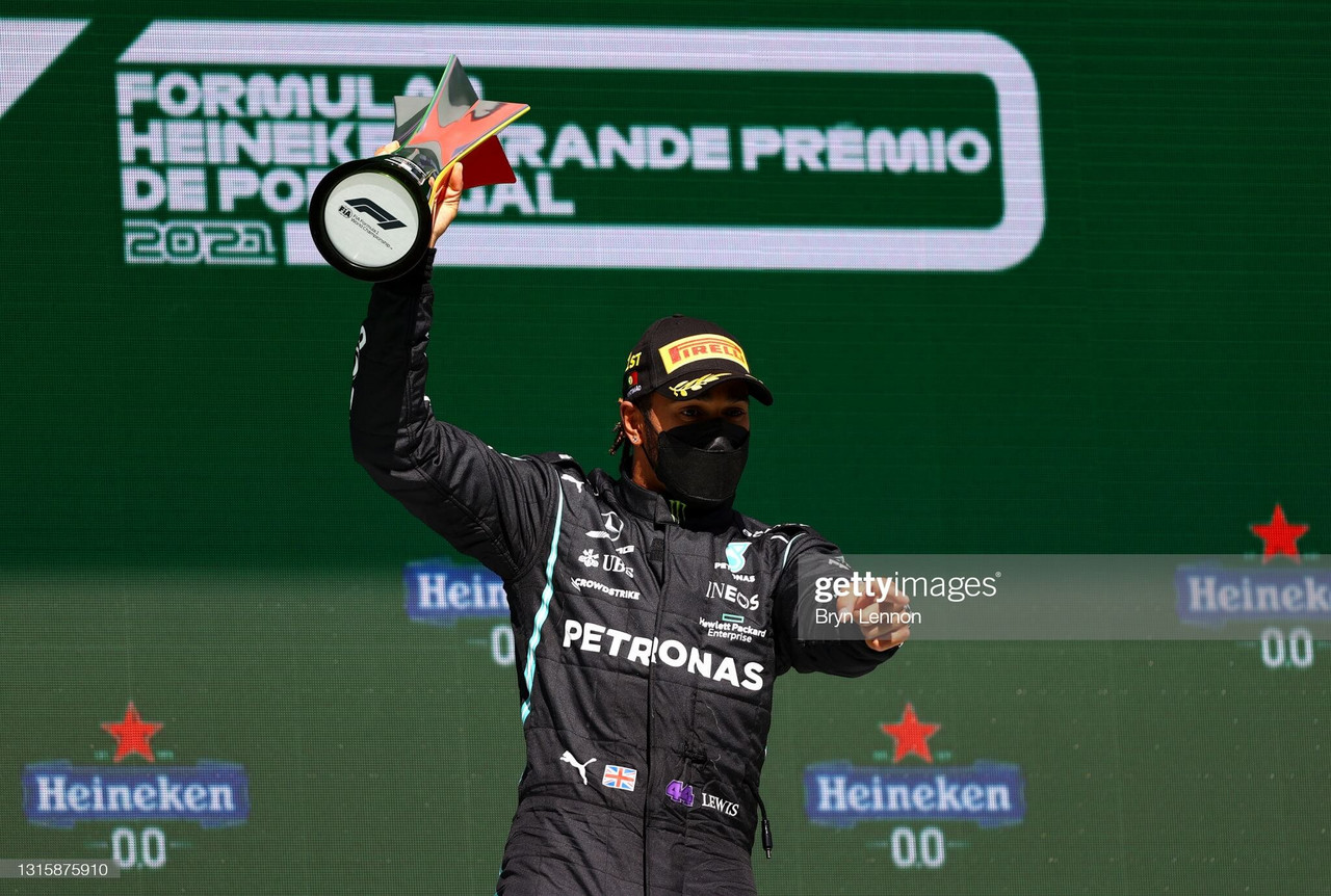 Lewis Hamilton claims 97th career victory in Portugal to extend lead over Verstappen
