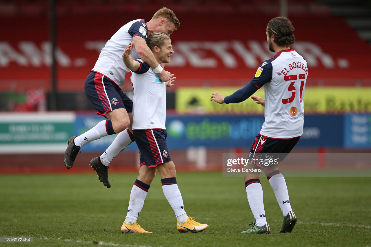 Crawley Town 1-4 Bolton Wanderers: Bolton secure promotion with final day thrashing of Crawley