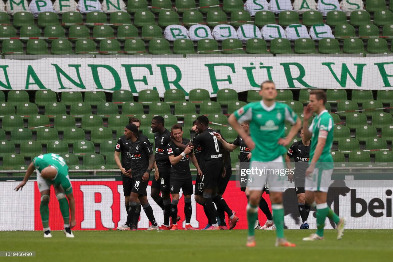 Werder Bremen 2-4 Borussia Mönchengladbach: Bremen are relegated to the 2. Bundesliga