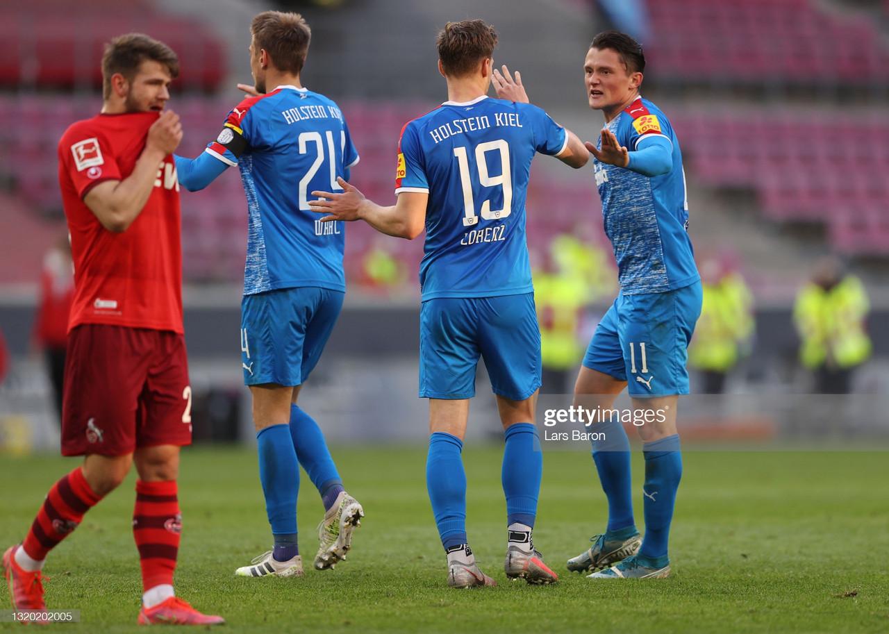 Köln 0-1 Holstein Kiel Bundesliga relegation play-off first leg: Kiel take a huge advantage into the second leg