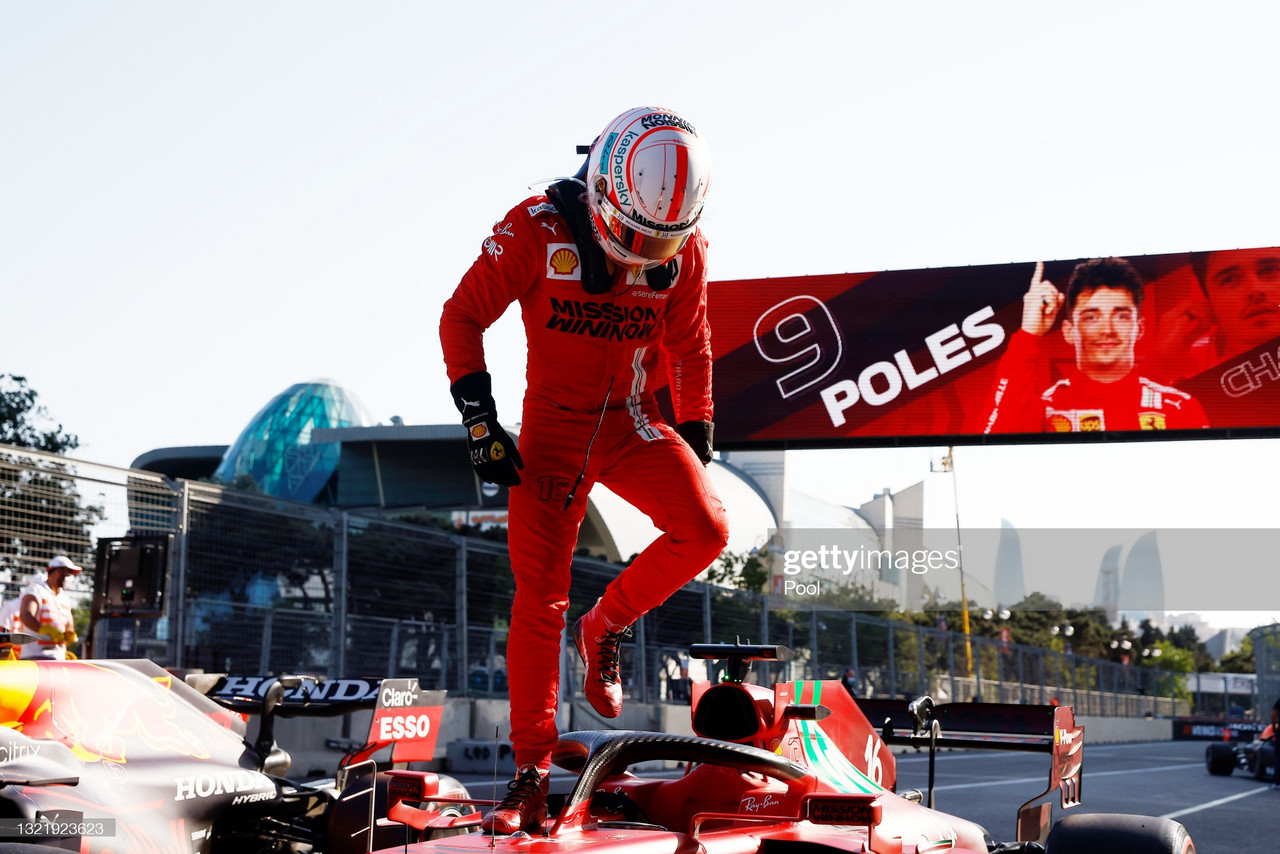 2021 Azerbaijan Grand Prix - Charles Leclerc gets back to back poles in a chaos-filled qualifying session