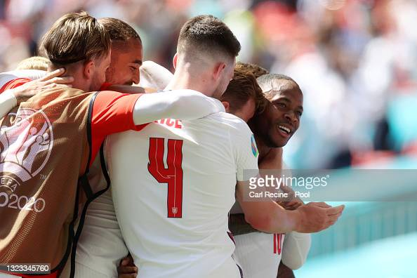 England 1-0 Croatia: Three Lions off to a Sterling start in the Wembley sun
