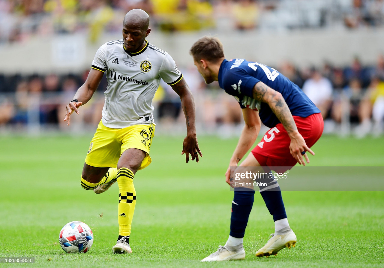 Columbus 2-2 New England: Crew rally for point in Lower.com opener