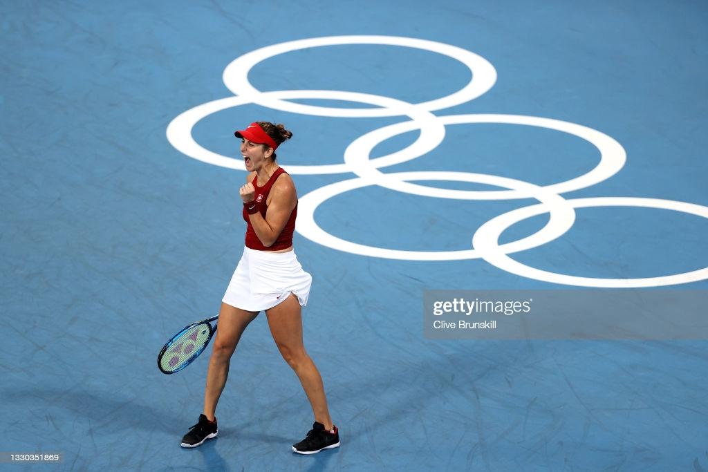 Tokyo 2020: Belinda Bencic eases past Jessica Pegula