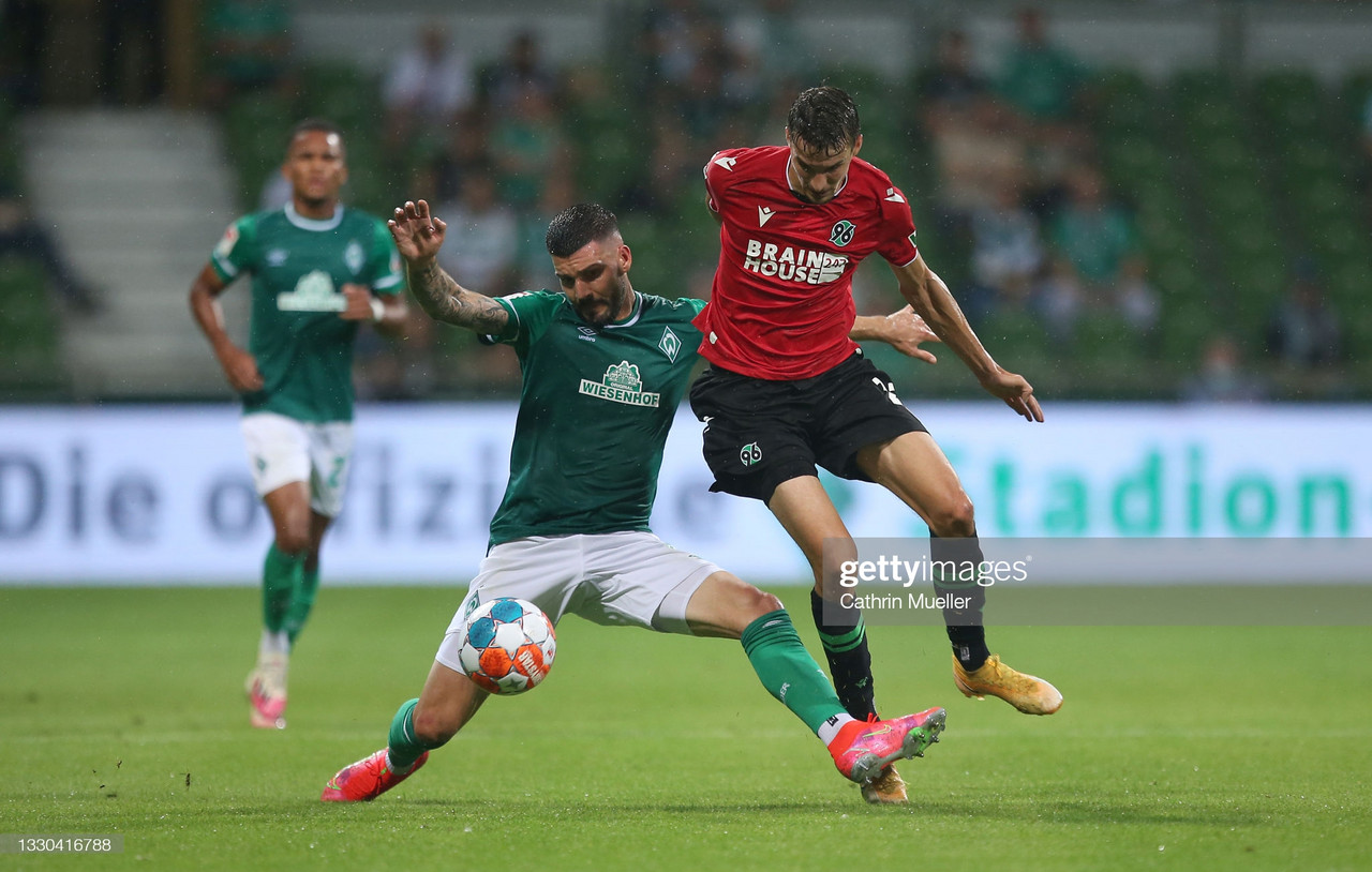 Werder Bremen 1-1 Hannover 96: Honors even at the Wohninvest Weserstadion
