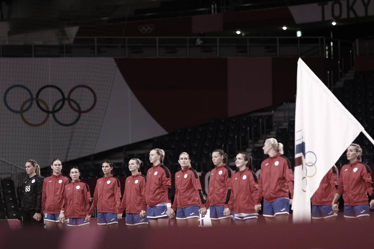 Gols e melhores momentos Montenegro 26x32 Comitê Olímpico Russo no handebol feminino pelas Olimpíadas de Tóquio 2020