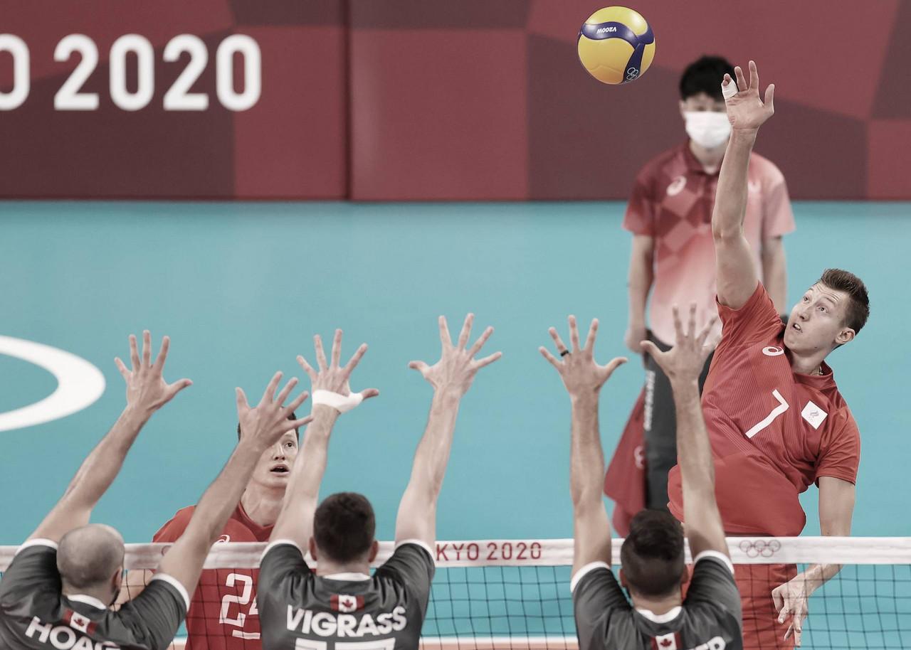 Pontos e melhores momentos Time Canadá 0x3 Comitê Olímpico Russo no vôlei masculino pelas Olimpíadas de Tóquio 2020
