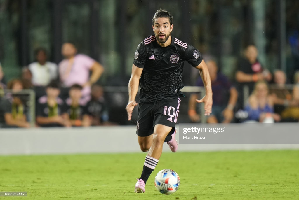 Rodolfo Pizarro enjoying himself at Miami