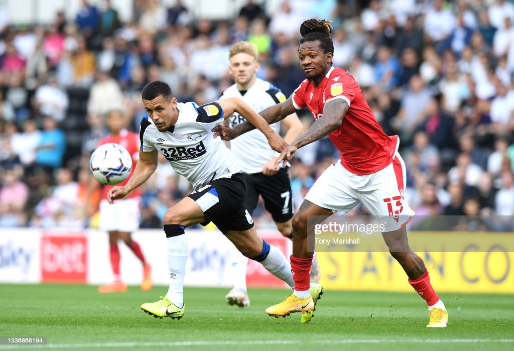 Derby County 1-1 Nottingham Forest: Johnson equalizer earns point for Reds in East Midlands Derby