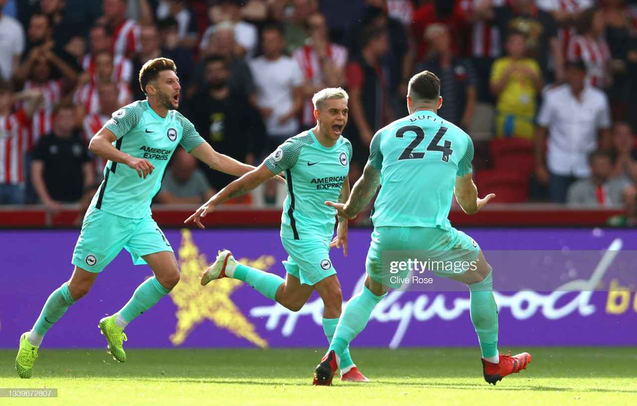 Brentford 0-1 Brighton & Hove Albion: Visitors thrive in third after snatching victory at the death