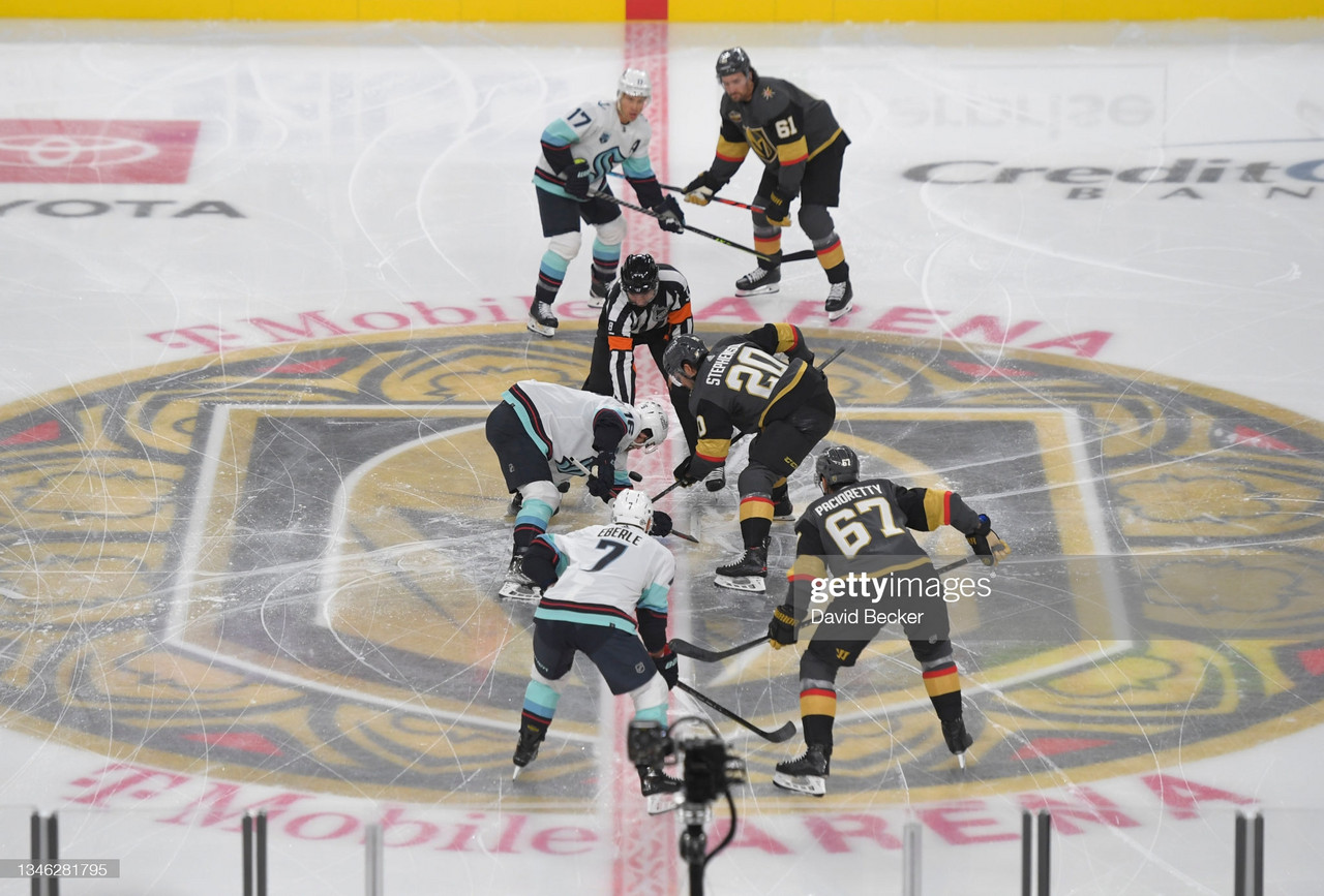 Kraken fall to Golden Knights in franchise's first-ever game