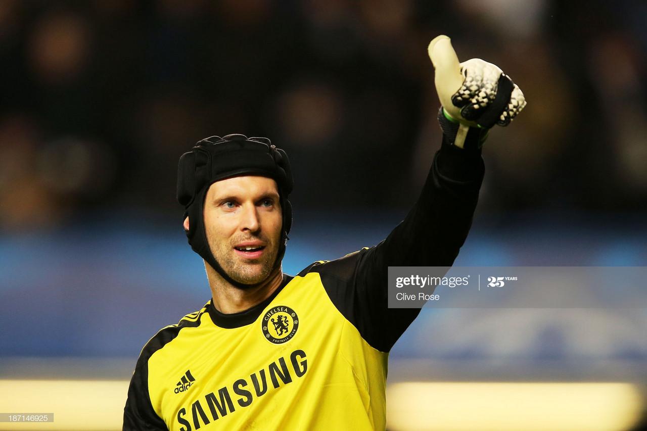Petr Cech: Making the Premier League his catching practice
