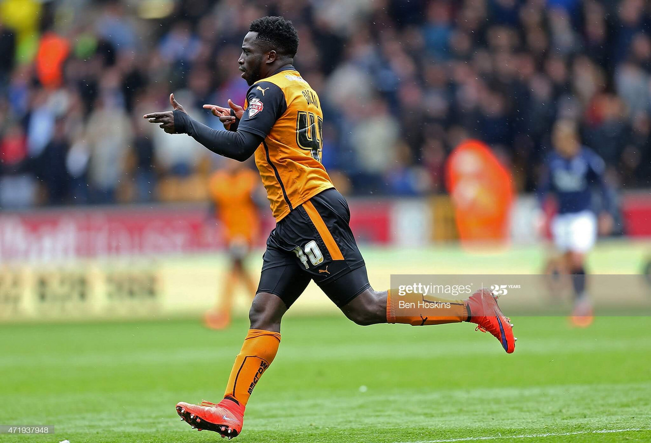Nouha Dicko was the key man for Wolves, scoring the first two and assisting the third | Photo by Ben Hoskins/Getty Images.