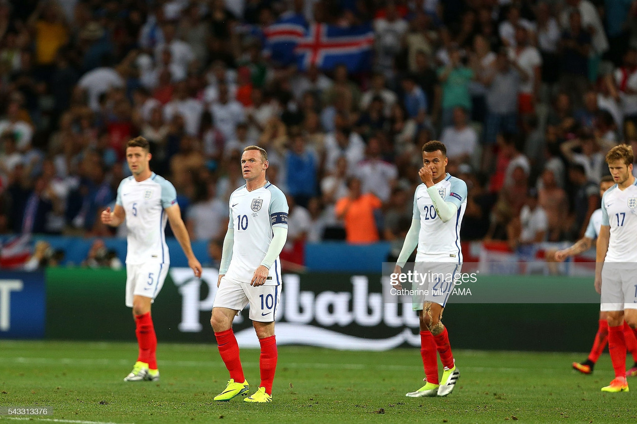 Heads in hands, unfulfilled expectations and a Viking clap that heralded the darkest hour - England's Euro 2016 story