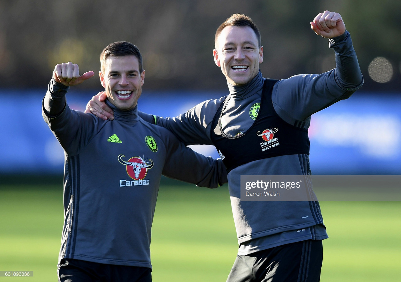 Cesar Azpilicueta takes inspiration from Terry and Frank Lampard