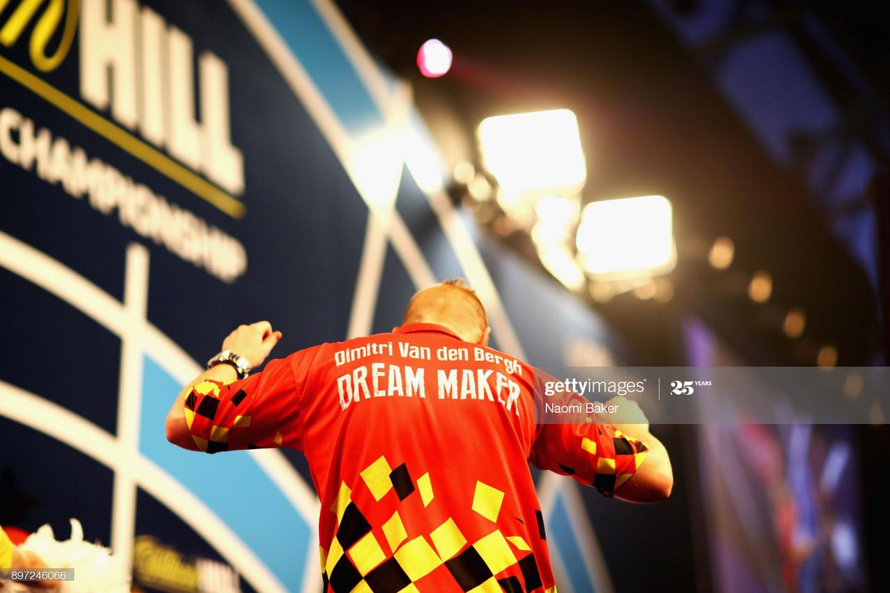 Betfred World Matchplay quarter-finals: Van den Bergh edges closer to debut TV final