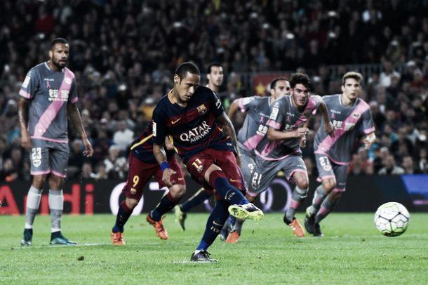 Ao ritmo do samba de Neymar, Barcelona fustiga Rayo Vallecano