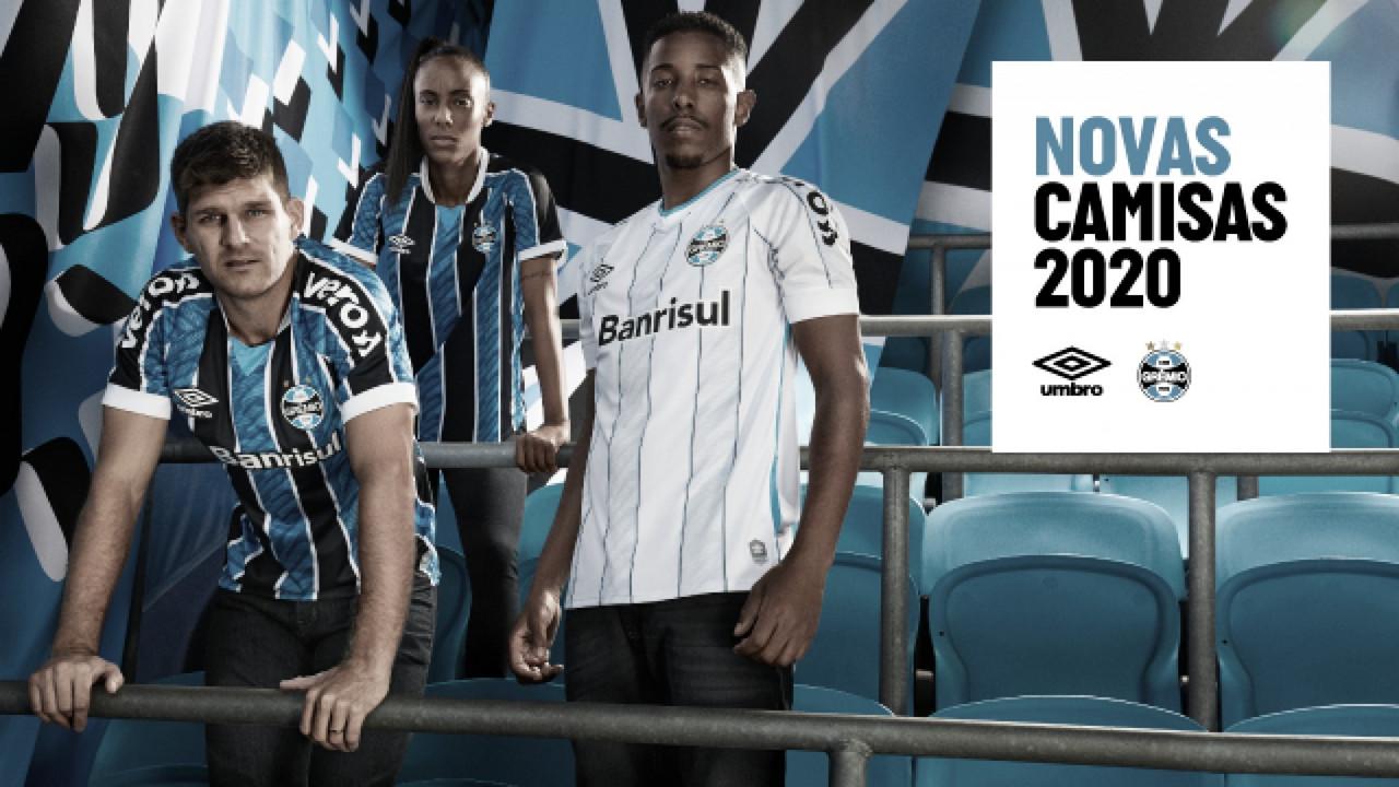 Grêmio divulga novos uniformes para temporada 2020