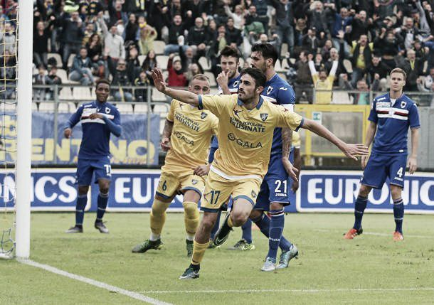 Cuore ciociaro, disastro doriano: il Frosinone batte la Samp 2-0