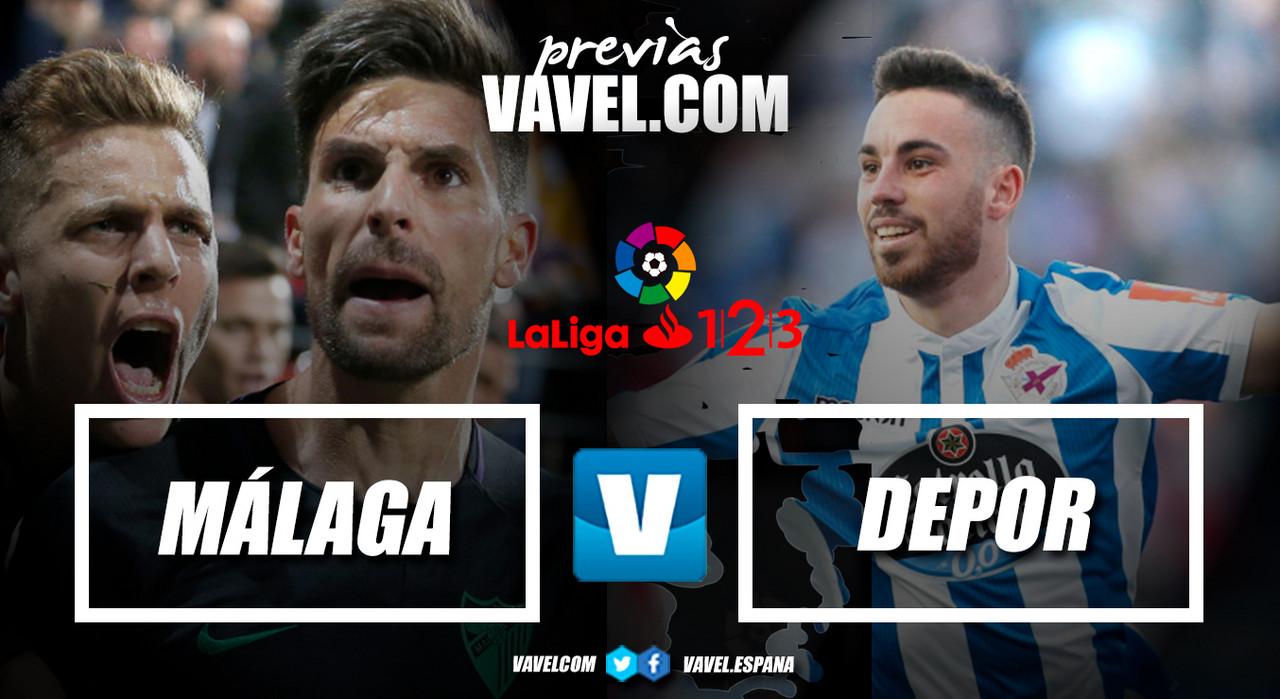 Previa Málaga CF - RC Deportivo: final por el ascenso