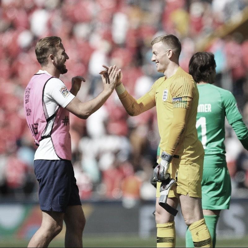 Em duelo truncado, Inglaterra derrota Suíça nos pênaltis e fica em terceiro na Ligas das Nações