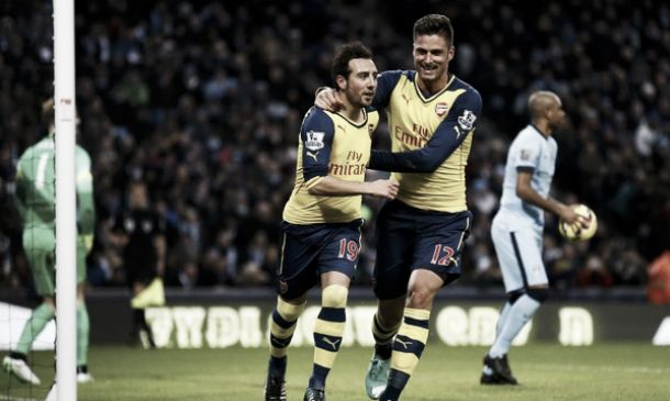 Cazorla e Giroud fanno grande l'Arsenal: è 2-0 all'Etihad col City