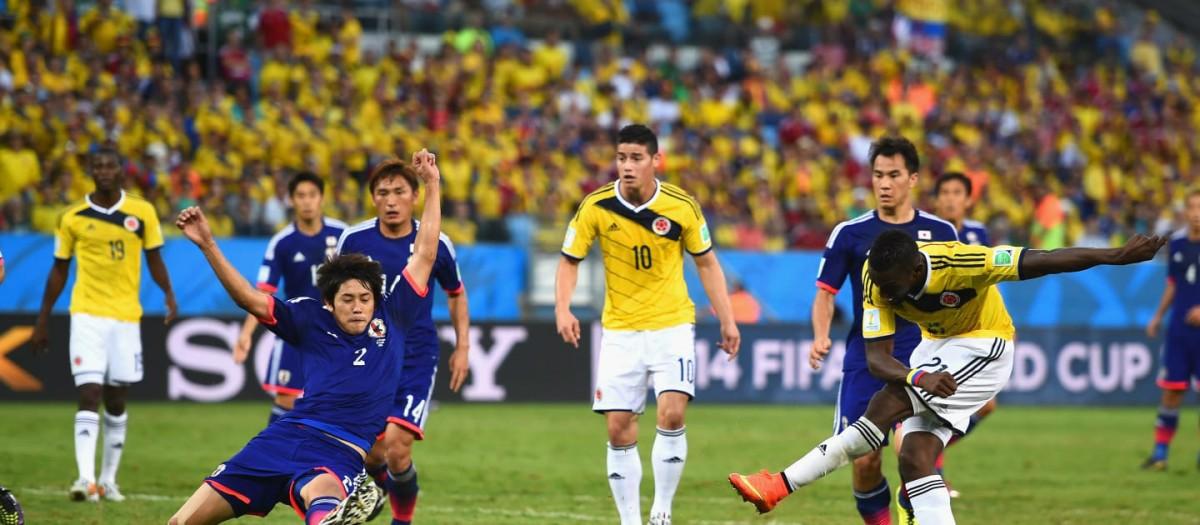 Colômbia e Japão reencontram-se quatro anos depois