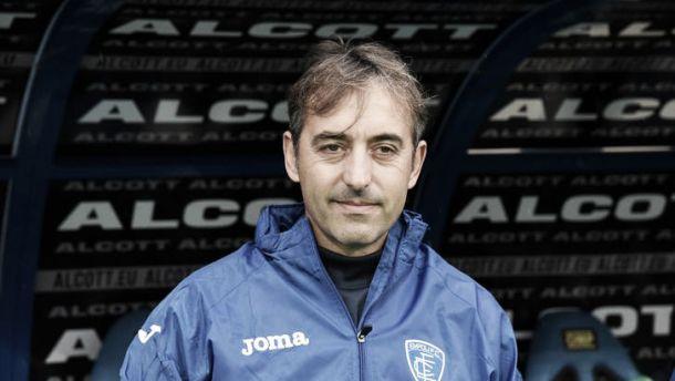 """Giampaolo carica l'Empoli: """"Giochiamo con la testa sgombra, inutile fasciarci la testa"""""""