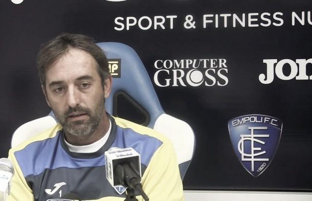 """Empoli, la conferenza stampa di Giampaolo: """"Sogno la salvezza. Saponara sta molto meglio"""""""
