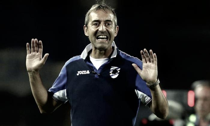"""Sampdoria, Giampaolo: """"Contro il Pescara voglio vincere, i ragazzi si sono allenati davvero bene"""""""