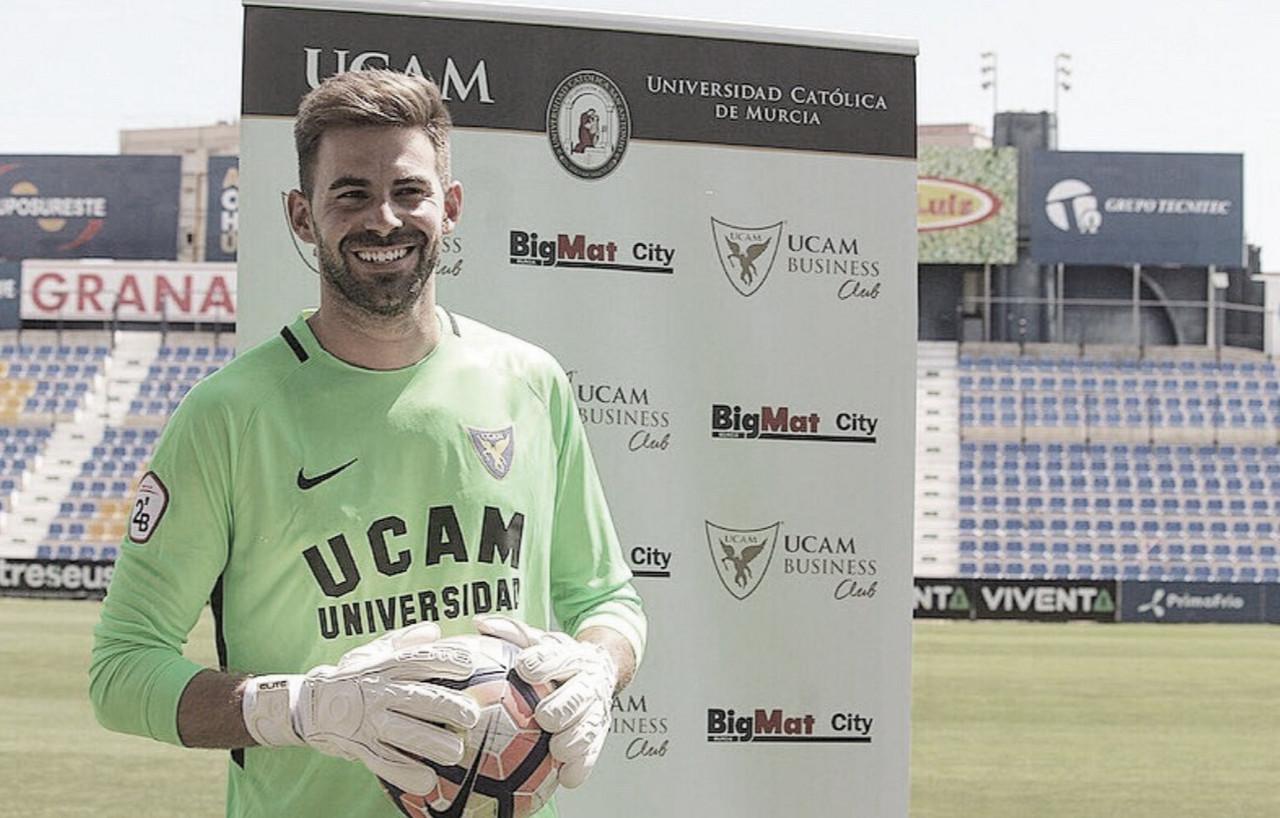 Gianni en su presentación | Foto: UCAM M urciaCF