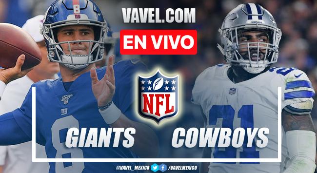 Resumen y anotaciones del Giants 20-44 Cowboys en NFL 2021