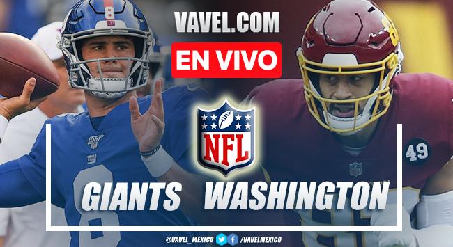 Resumen y anotaciones del Giants 29-30 Washington en NFL 2021