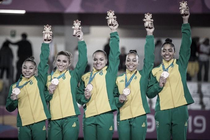 Na Ginástica Artística feminina, Brasil leva medalha de bronze na disputa de equipes