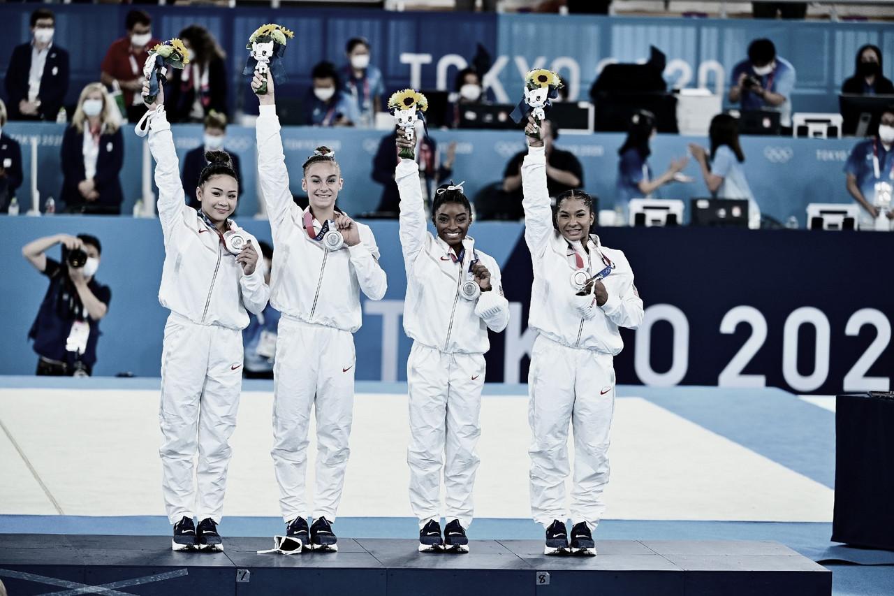 Com falha de Biles no salto, EUA perdem ouro para russas na ginástica artística por equipes