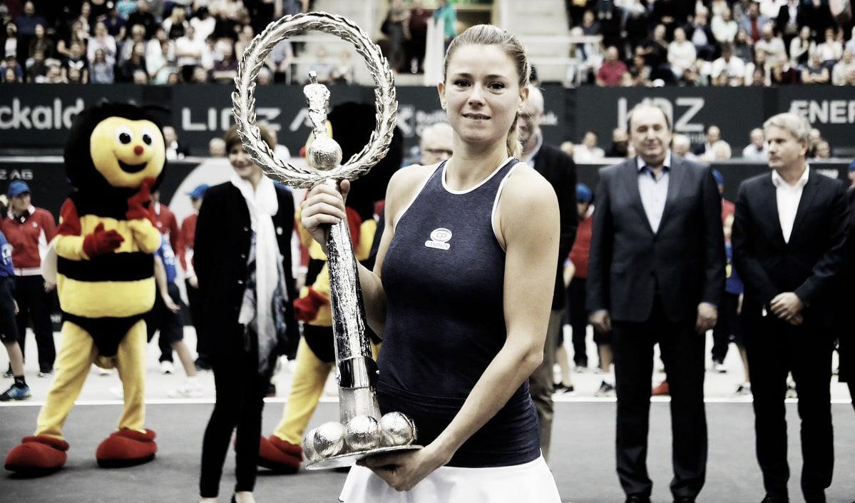 WTA Linz: Camila Giorgi rolls past Ekaterina Alexandrova for second career title