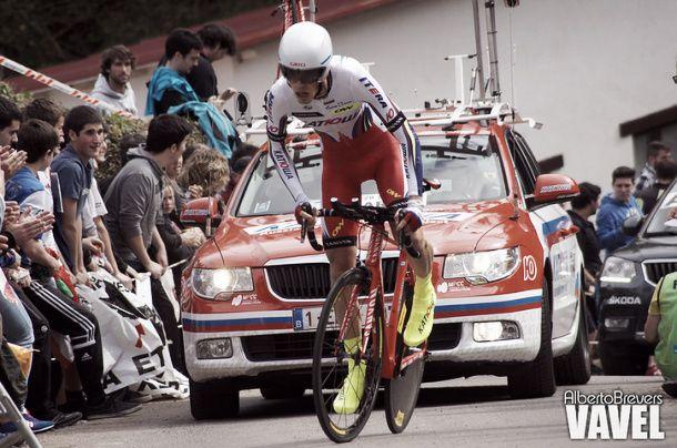 Giro d'Italia 2015, cronometro Treviso - Valdobbiadene: vince Kiryenka, Contador ancora rosa