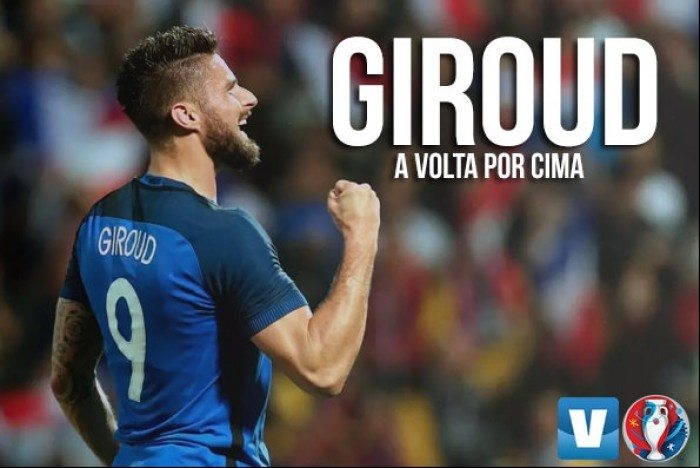 Sob críticas e desconfiança, Giroud se tornou peça fundamental na Seleção Francesa durante a Euro