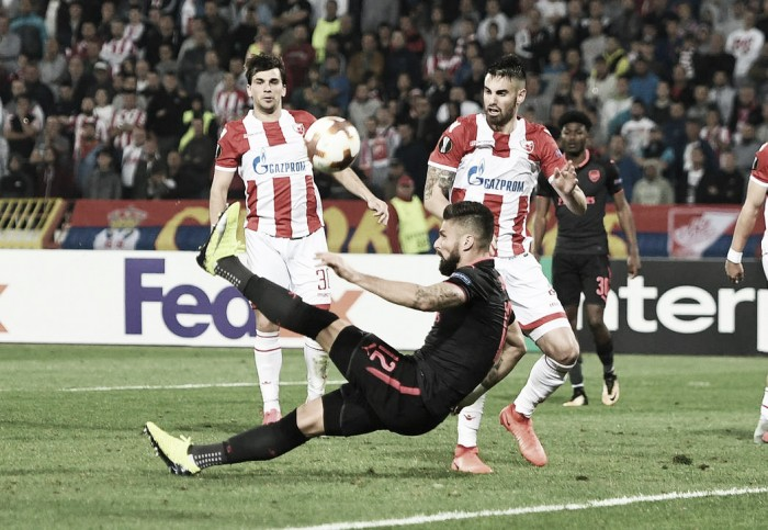 Giroud consiguió el mejor gol para el Arsenal en octubre