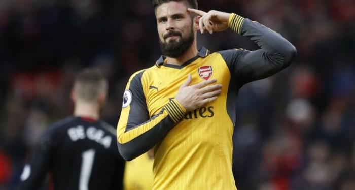 Giusto un Giroud: l'Arsenal pareggia con lo United. E il francese è sempre più indispensabile