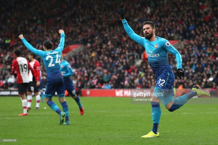 Southampton 1-1 Arsenal: Gunners struggle on the road again as Olivier Giroud scores late equaliser