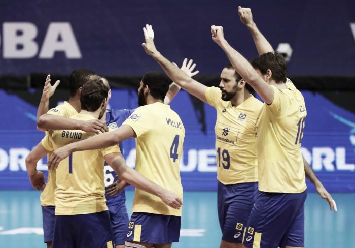 Com ambas classificadas, Brasil derrota Sérvia e se prepara para fase final da Liga Mundial de Vôlei