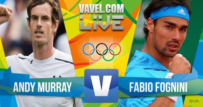 Andy Murray x Fabio Fognini pela Olimpíada Rio 2016