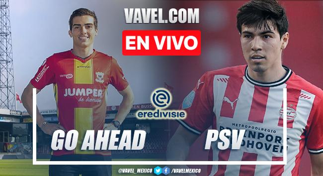 Goles y resumen del Go Ahead 1-2 PSV en Eredivisie 2021