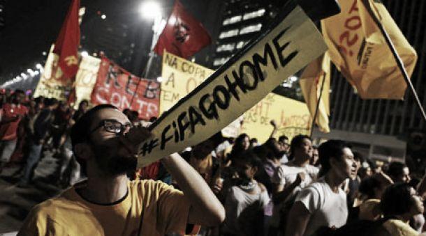 Confrontos violentos em São Paulo a horas do arranque do Mundial