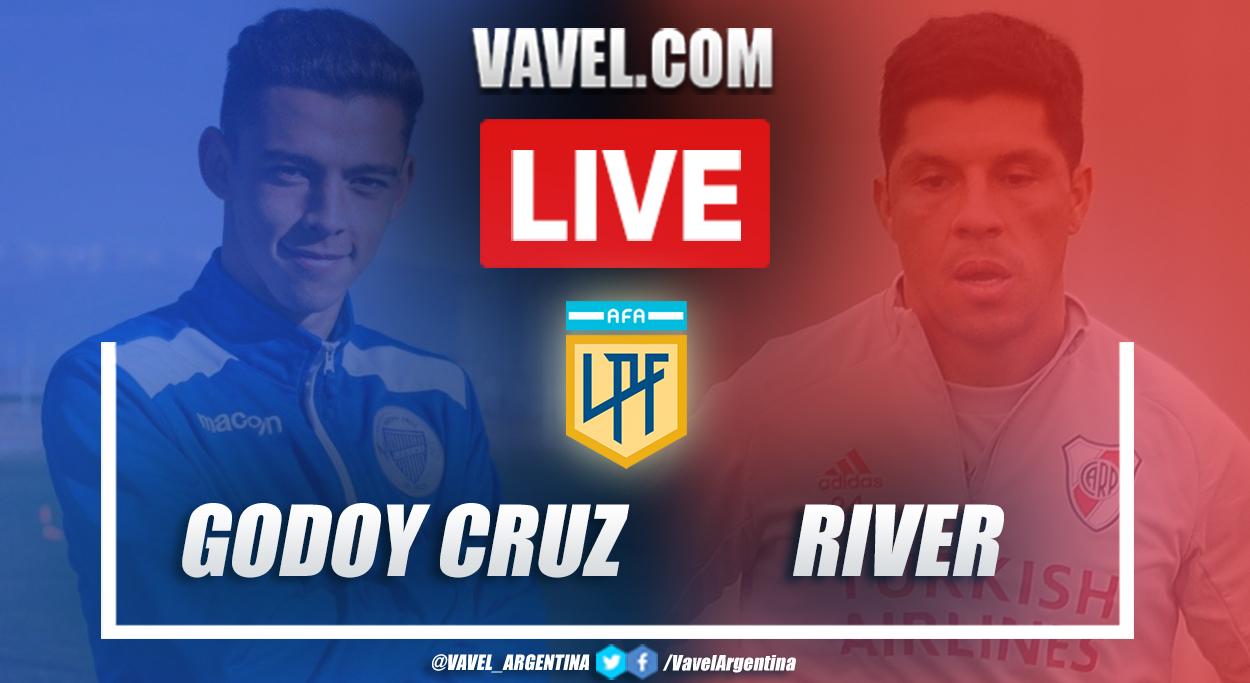 Resumen Godoy Cruz vs River Plate (1-6) en la fecha 6 por Copa de la Liga Profesional