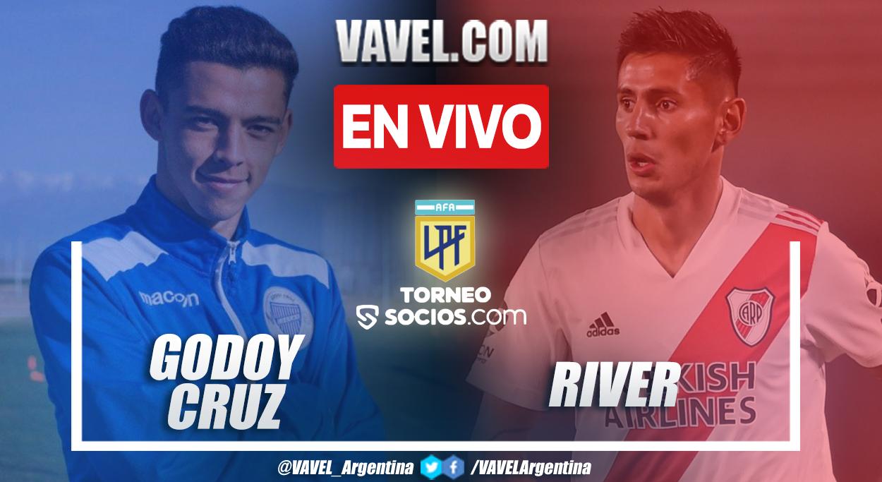 Resumen y goles: Godoy Cruz 2-1 River en la fecha 5 de la Liga Profesional Argentina