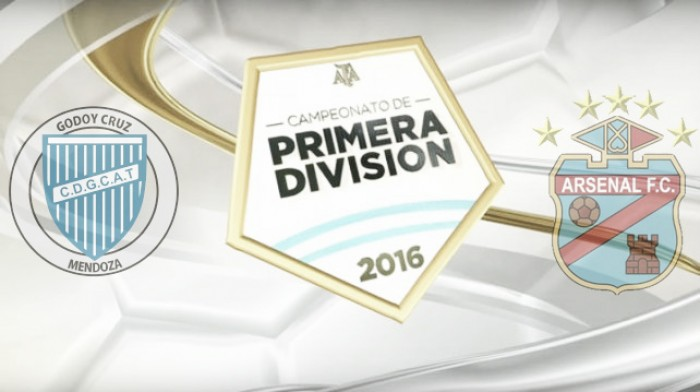 Resultado Godoy Cruz 2-0 Arsenal en el Torneo de Transición 2016
